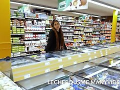 Eyra in the Supermarket - Flashing and asian gandl in Public