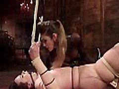 Lesbian waxed and anal fucked lezdom