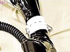 NA046-Gasmask marge simpson brunette bondage Breath Play