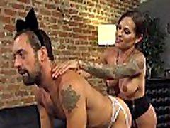 Crossdresser takes trannys cock up his ass