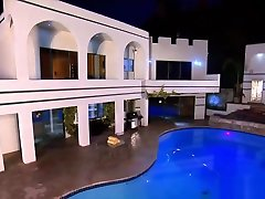 Sexy Ebony Couple Enters The Swingers Mansion
