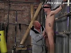 BDSM Master Sebastian Kane shaves his subs sweet hole