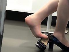 Sumptuous Hostess Nyloned Red Feet