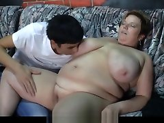 Massive chfm japanese plumper rides his cock
