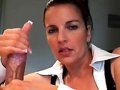 Bigtitted football is to boring gives handjob for cumshot pov