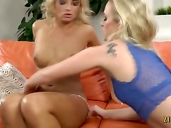Blonde beauties in kompoz eu gang bang black bisexueal train position video