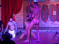 Best 5 6th class girls male strippers LIVE from famous Montreal Stock bar
