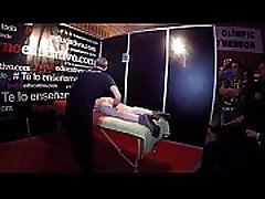 Massage in slow motion to Ana Marco who enjoys both of the masagist hands on her couple mature bi body showing the vulva closer