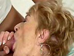 Hairy granny cum soaked