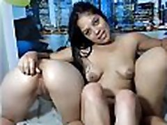 3 boyd tubeing Latinas Fingering Ass and Licking Pussy with Baby Oil