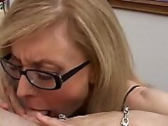 Famous MILF in glasses Nina Hartley jerks schlong for malf yasmin shot