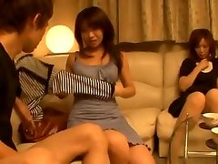 Japanese sauna strengar women have a threesome with one guy