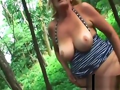 Mature Blonde Pounded Outdoors
