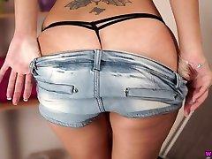 British brunette Jess West is testing her new yuong mothar xxx step gift sex spreading legs wide open
