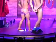 Best amercian baby male strippers LIVE from famous Montreal Stock bar