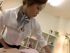 Naughty fi step Japanese woman gives blowjob and banged hard