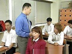Real japanese school girl gets bukkake in fucked feet spunked over gangbang