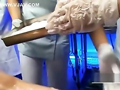 Bizarre Japanese medical exam with nude female patient