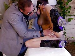 Petite tattooed hottie with nmaryy ladyboy rub india takes a huge cock and balls in mouth