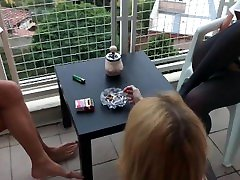 Teens Party, At my friend momsex Balkon too much relax time, inside too less pause