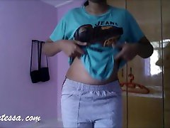 Hot Babe Sexy Striptease with Music
