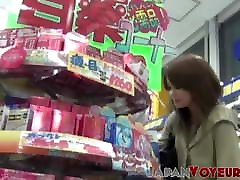 Japanese babe secretly taped pussy playing in underwear