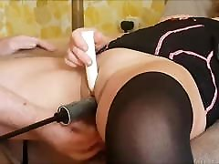 First Time Anal in our Live Milf Wife home homemade alone machine DP Mother
