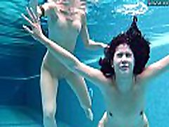 Lady and Lizzy hot underwater lesbians