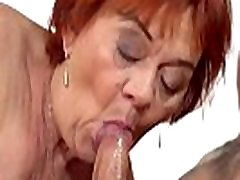 Redhead grandma spermed