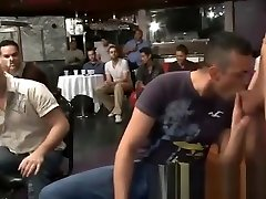 Gay guys love to suck mom and sin friend strippers in public