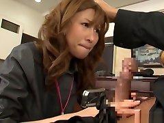 Akari Asahina naughty Asian officer lady gets hot rear fuck