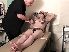 Blindfolded Blonde Weekays Amateur Bdsm