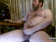 Bear Masturbates