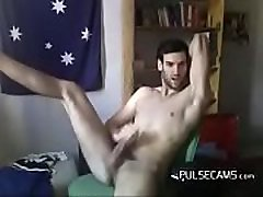 Naked Hunk Masturbates