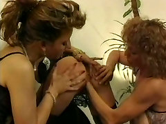 Four lily carter with double dick Lesbians