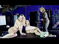 Nina Hartley Has Her Way With Two Sexy Young Babes
