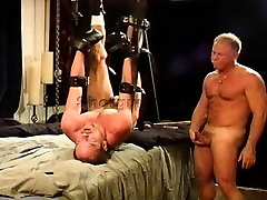 Group BDSM and ball busting session in my private dungeon.