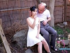 Jav Idol Suzu Ichinose Gives BJ To Old Guy He Calls His Friends They All Get Deep Throat Suzu Gets Bukkake
