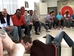 Male strippers fuck guys at party
