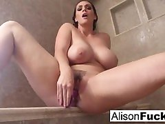 Alison rubs herself to completion