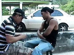 Latino guys rub on each other and suck and fuck