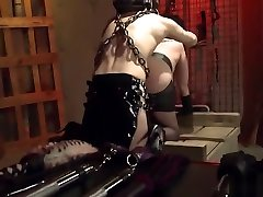 Brunette slave endures anal torture and deepthroating