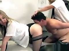 Uniformed Femdoms Smoother Submissive