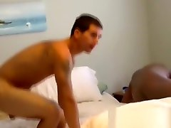 Chubby black deviant ass fucks a guy and gives him facial