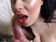 Beautiful blindfolded surprise vagina wife BBW mom takes big cock