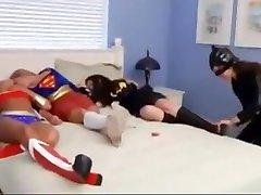 Superheroine secured aunty Feet Worship