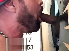 Young Black Bull Gets Deepthroated, Sucked, Swallowed at Philly Glory Hole
