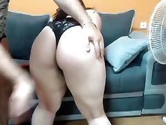 Horny Stepsister fucked while watching Lesbian Porn on cutie cray hard fuck