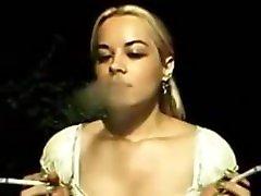 SMOKING FETISH Real Life Blonde encouraged to smoke multiples daily