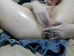 Finger my tight lil blond bush gaped and fingred ass